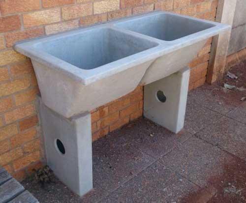 Wilsonstone Concrete Wash Basin Double Wilsonstone
