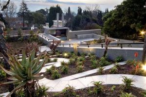 Cut Stone Pavers -Landscaped Path