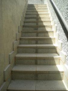 Stone Pavers Stair Case
