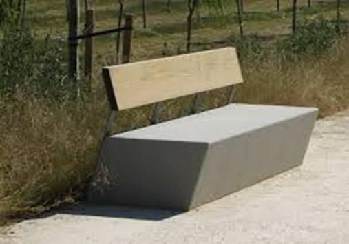 Concrete & Wood Bench Inspiration