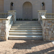 Clarens Stone tiled staircase