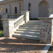 Clarens Stone tiled stairs