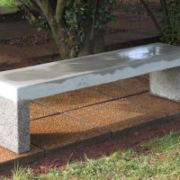 Exposed Aggregate Benches and Rest Sets-Turin-Exposed-Legs-Bench