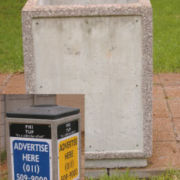 Landscaping Products- Concrete Dustbin- Advertising Bin